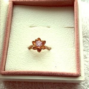 Fragrant Jewels flower ring pink size 5